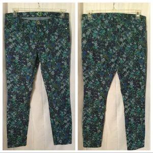 C Wonder * Floral Printed Skinny Jeans - Size 30